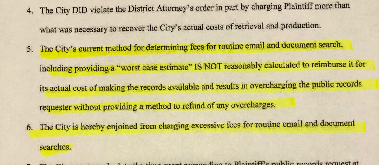 City of Portland Violated Public Records Law by Overcharging Requesters.